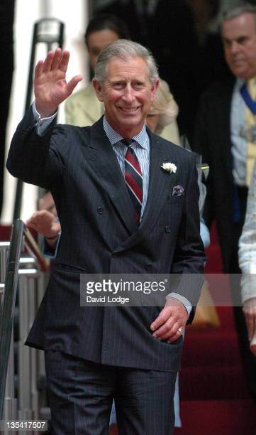 Prince Charles, Prince of Wales during Prince Charles and the Duchess of Cornwall Visit Leadenhall Market and Lloyds of London at Leadenhall Market...