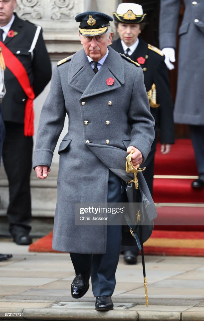 Prince Charles, Prince of Wales during the annual Remembrance Sunday memorial on November 12, 2017 in London, England. The Prince of Wales, senior politicians, including the British Prime Minister and representatives from the armed forces pay tribute to those who have suffered or died at war.