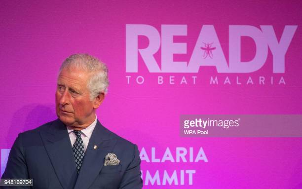 Prince Charles Prince of Wales during the Malaria Summit in Northumberland Avenue on April 18 in London England The Commonwealth Business Forum will...