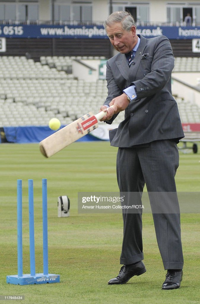 HRH Prince of Wales attends the Prince's Trust Cricket Programme