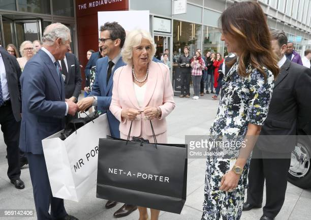Prince Charles Prince of Wales Federico Marchetti CEO YOOX NETAPORTER GROUP Camilla Duchess of Cornwall and Alison Loehnis President of NETAPORTER MR...
