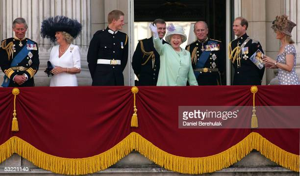 Prince Charles Prince of Wales his wife Camilla Duchess of Cornwall son Prince Harry brother Prince Andrew Duke of York mother HM Queen Elizabeth II...