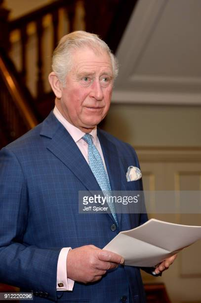 Prince Charles Prince of Wales hosts a Crop Trust reception at Clarence House on January 30 2018 in London England Patron of The Crop Trust Prince...