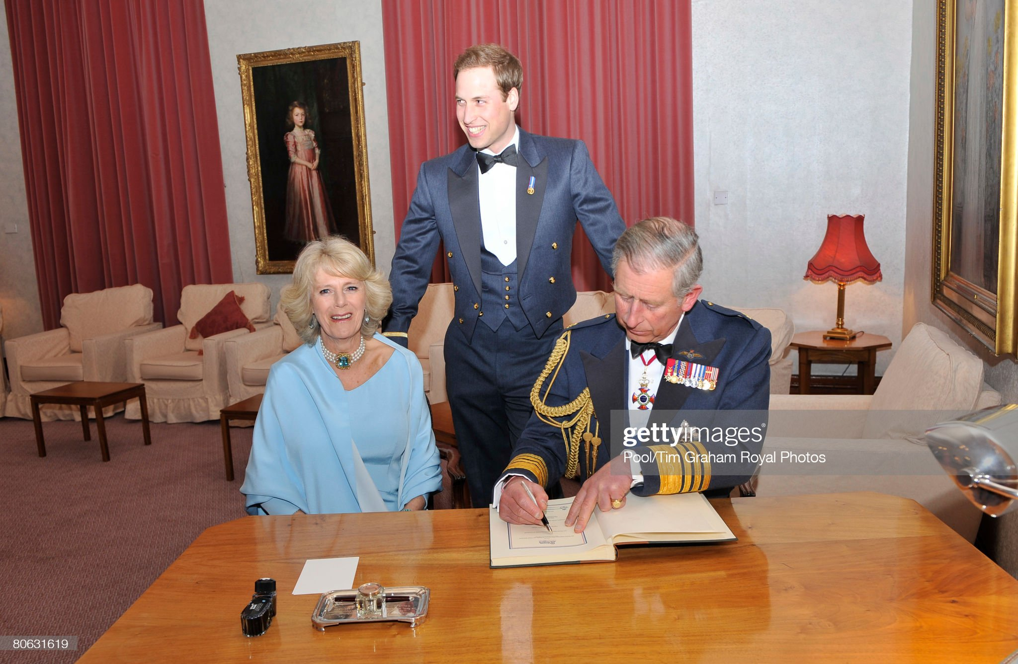 Royals Attend RAF Sunset Ceremony : News Photo
