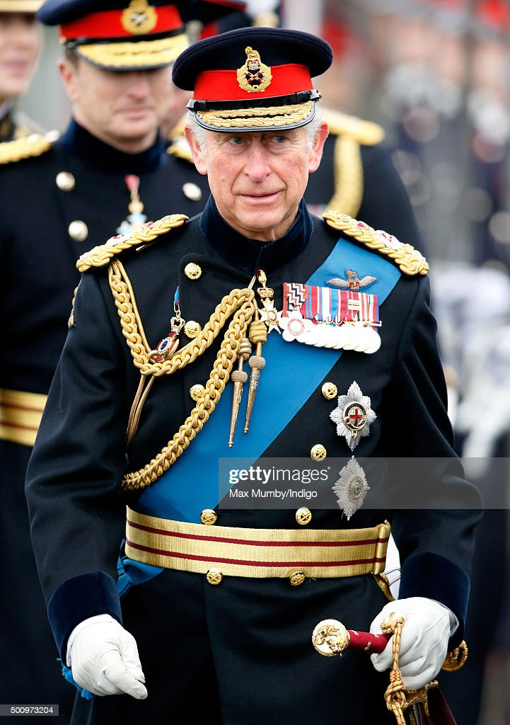 Prince Charles Attends The Sovereigns Parade At Sandhurst : News Photo
