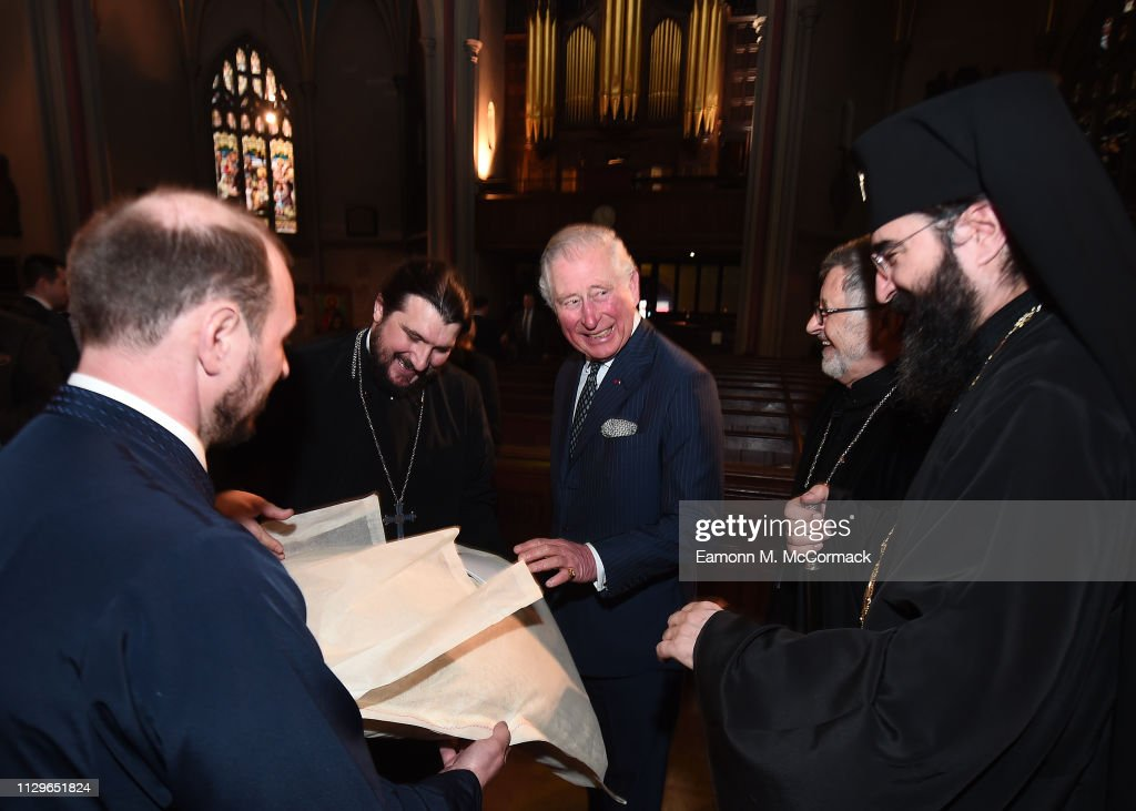 The Prince Of Wales Attends A Romanian Orthodox Church Service : News Photo