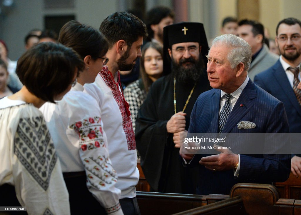 GBR: The Prince Of Wales Attends A Romanian Orthodox Church Service