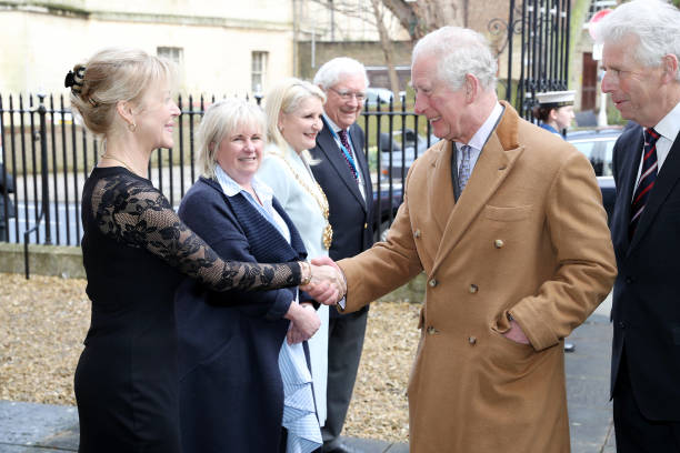 GBR: The Prince of Wales Visits Emma Willis LTD In Gloucestershire