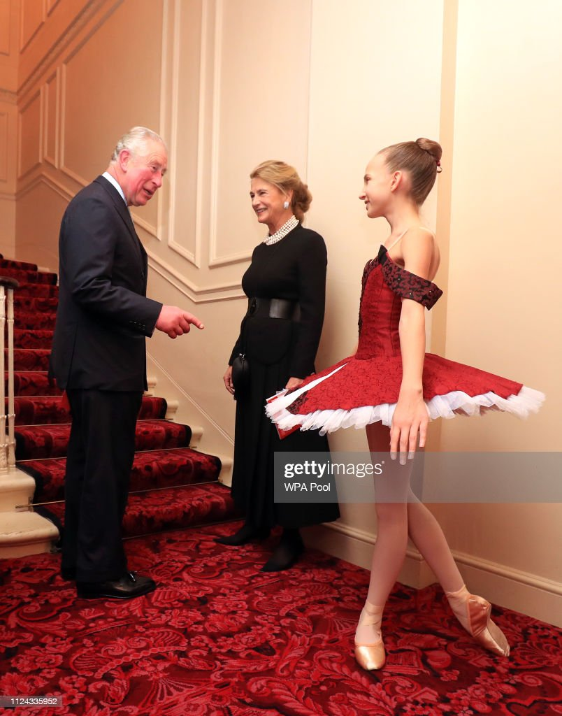 GBR: The Royal Ballet School Honour HRH Prince Charles 70th birthday At The Royal Opera House
