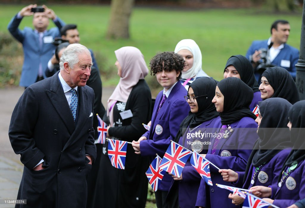 GBR: The Prince Of Wales Visits Manchester & Wigan