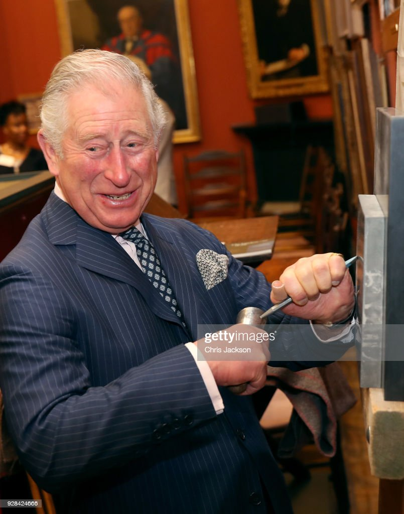 Prince Of Wales Visits The Art Worker's Guild