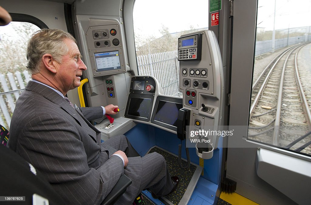 Prince Charles Visits Bombardier Transportation In Derby : News Photo