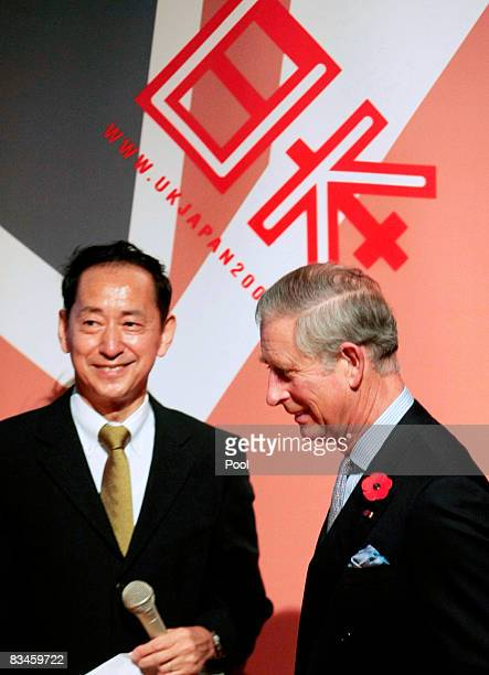 Prince Charles Prince of Wales is welcomed by National Museum Emerging Science and Innovation director and former STS99 Japanese Mission Specialist...