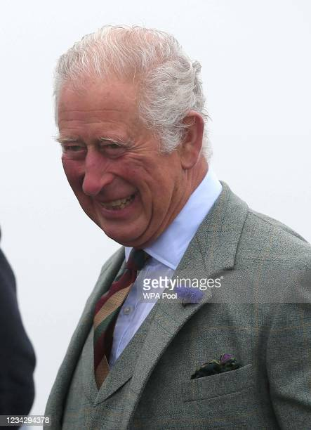 Prince Charles, Prince of Wales, known as the Duke of Rothesay when in Scotland, during a visit to DS McGregor and Partners Veterinary Surgery, as...