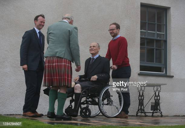 Prince Charles, Prince of Wales, known as the Duke of Rothesay when in Scotland, during a tour of the newly-restored House of the Northern Gate and...