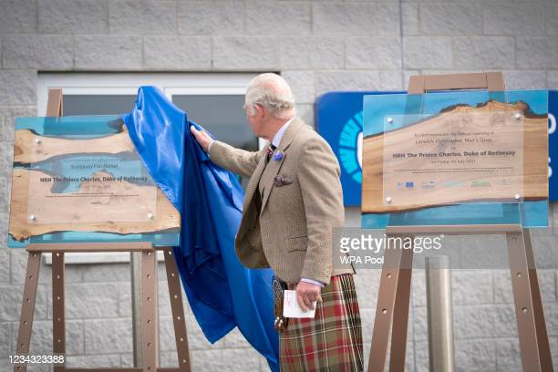 Prince Charles, Prince of Wales, known as the Duke of Rothesay when in Scotland, officially opens the Lerwick Harbour and Scalloway Fish Markets at...