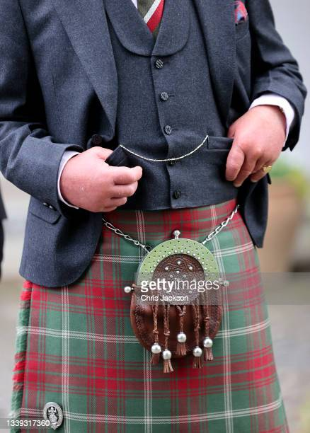 Prince Charles, Prince of Wales known as the Duke of Rothesay when in Scotland, meets with food and craft producers at the Village Hall on September...
