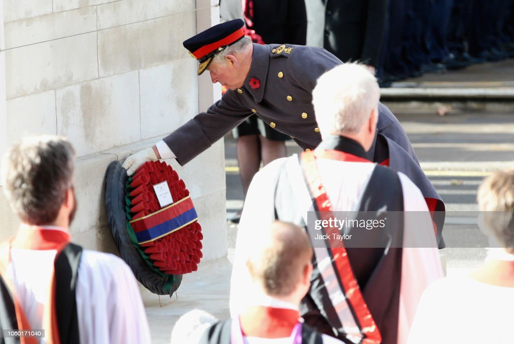 Wreaths Are Laid At The Cenotaph On Remembrance Sunday : ニュース写真