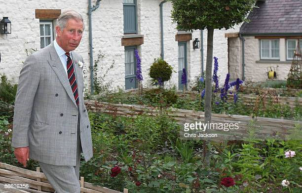 Prince Charles Prince of Wales leaves a drinks reception at his welsh property Llwynywermod before a drinks reception on June 22 2009 in Llandovery...