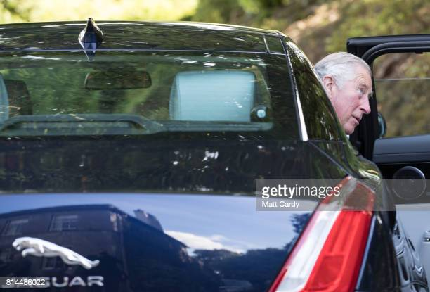 Prince Charles Prince of Wales leaves following a tour of the gardens at Plas Cadnant Hidden Gardens during The Prince of Wales' annual summer visit...