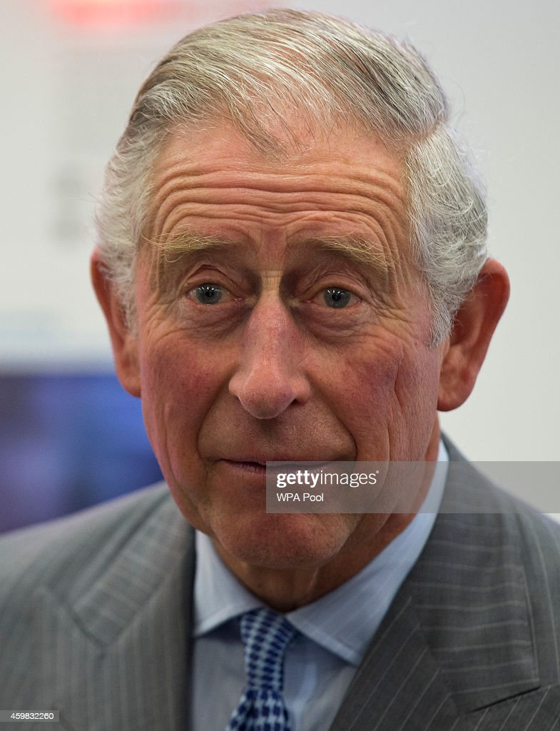 Prince Charles, Prince of Wales listens to some students at the Sky Academy, during a visit to Sky on December 2, 2014 in London, England.