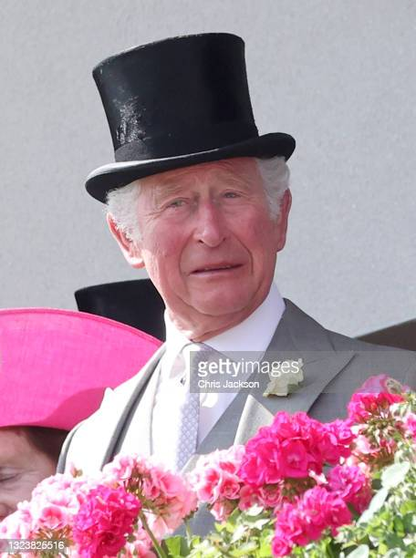 Prince Charles, Prince of Wales looks on during Royal Ascot 2021 at Ascot Racecourse on June 15, 2021 in Ascot, England.