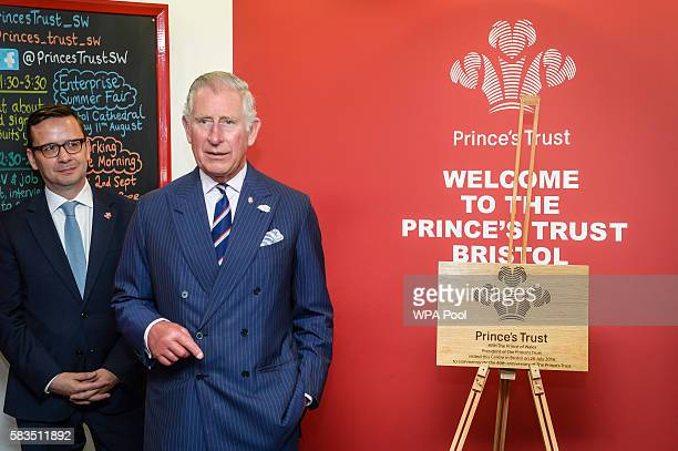 Prince Charles, Prince of Wales makes a speech during a visit to his his Prince's Trust centre where the charity's beneficiaries, staff and...