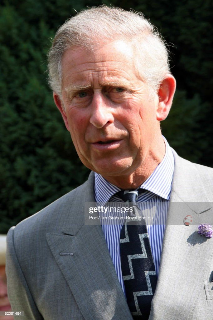 Prince Charles, Prince of Wales meet volunteers and supporters of the Milton Cottage Trust during a reception at John Milton's Cottage to mark the 400th anniversary of the poet's birth, Chalfont St. Giles, on July 24, 2008 in Buckinghamshire, England.