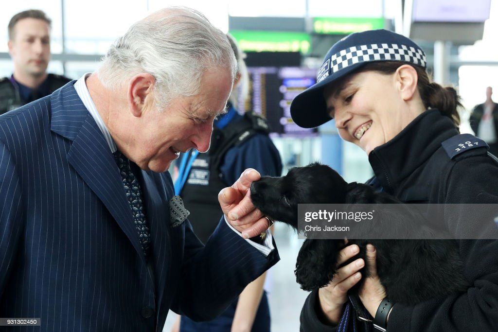 The Prince Of Wales Visits Heathrow Airport