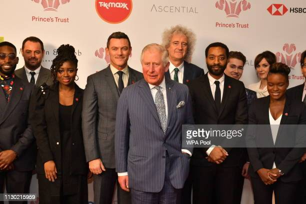 Prince Charles, Prince of Wales meets award winners and the charity's supporters at the annual Prince's Trust Awards at the London Palladium on March...