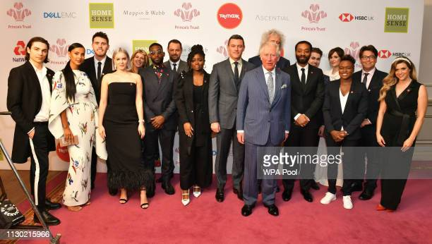 Prince Charles Prince of Wales meets award winners and the charity's supporters at the annual Prince's Trust Awards at the London Palladium on March...