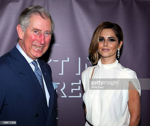 Prince Charles, Prince of Wales meets Cheryl Cole at the Prince's Trust's Invest in Futures gala dinner held at The Savoy on February 23, 2012 in...