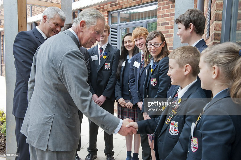 Prince charles prince of wales meets children from solihull school news photo getty images Royal school swimming pool wolverhampton