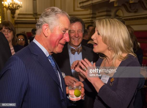 Prince Charles Prince of Wales meets Debbie Brown of Lewisham Clinical Commissioning Group at a reception to celebrate frontline nursing in the UK at...