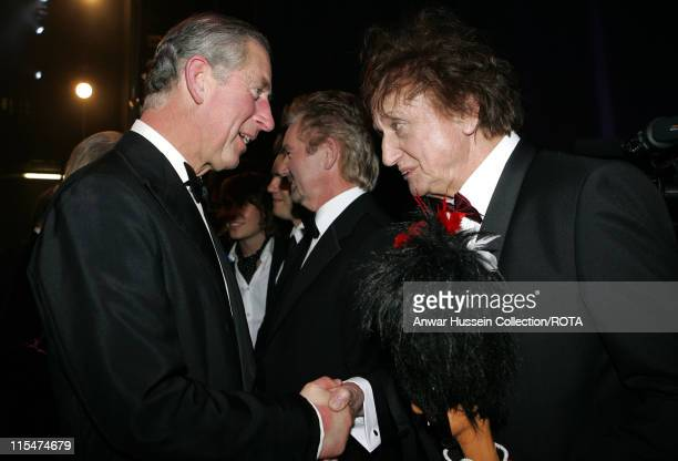Prince Charles Prince of Wales meets entertainer Ken Dodd