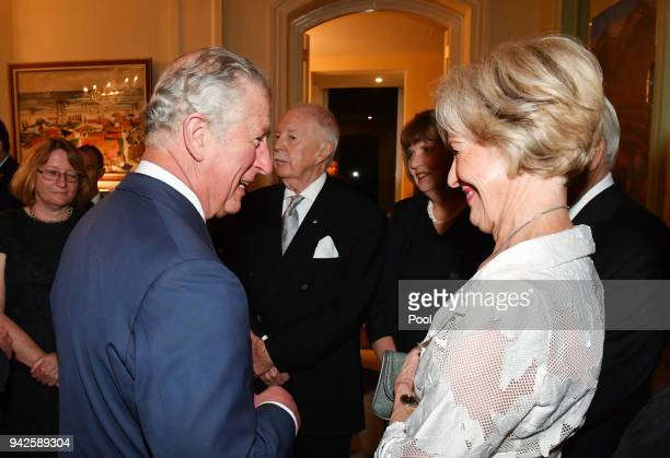 Prince Charles Prince of Wales meets former GovernorGeneral of Australia Quentin Bryce at a reception at Queensland Government House in Brisbane on...
