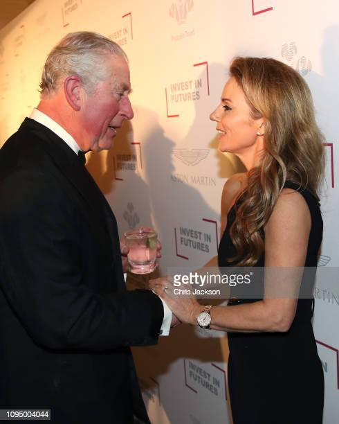 Prince Charles, Prince Of Wales meets Geri Halliwell during the Prince's Trust 'Invest In Futures' Reception at The Savoy Hotel on February 7, 2019...