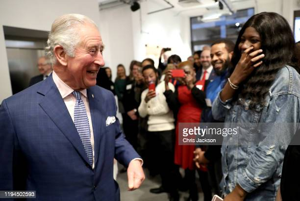 Prince Charles, Prince of Wales meets guests at the opening of the Prince's Trust new South London Centre on December 17, 2019 in London, England....