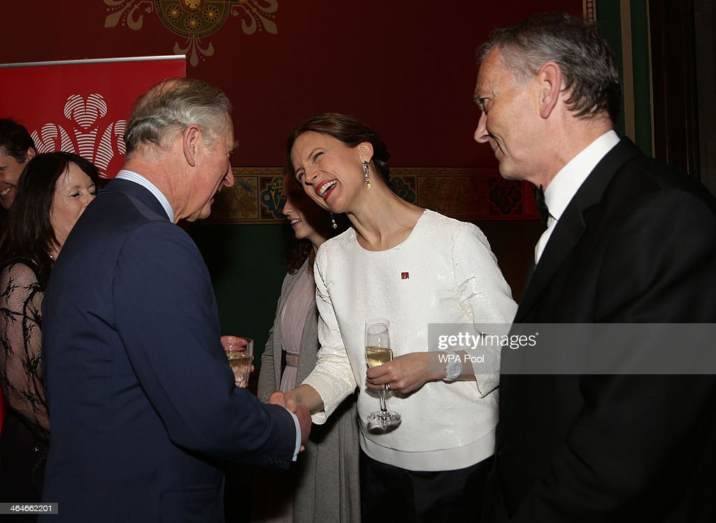 Prince Charles, Prince of Wales meets Prince's Trust Young Ambassador Catriona Glover, Katie Durham (C) and Richard Scudamore, Chief Executive of the Premier League during a leadership reception hosted by The Prince's Trust at The Royal Courts of Justice on January 23, 2014 in London, England.