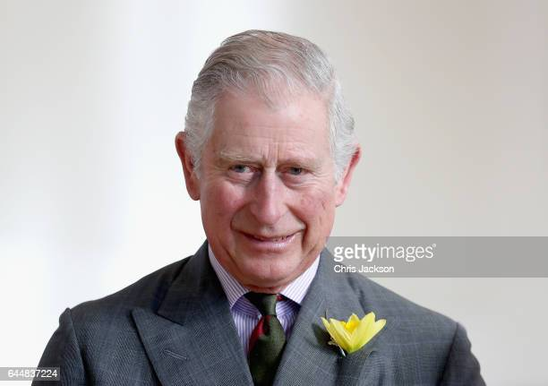 Prince Charles, Prince of Wales meets pupils and teachers involved in a climate change education programme run by the charity, Size of Wales, at...