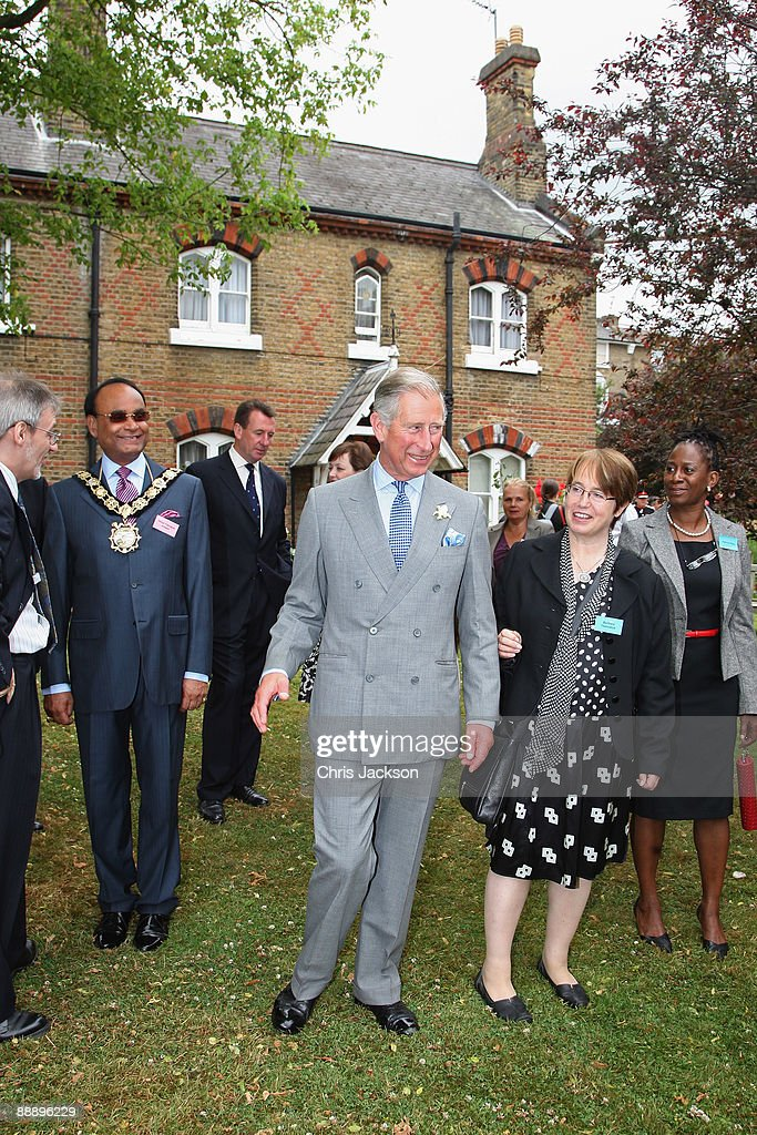 Prince Charles, Prince of Wales meets residents as he visits St Pancras Almshouses on July 8, 2009 in London, England. The Prince of Wales, patron of The Almshouse Association, presented the Patron's Awards and met residents and community leaders to celebrate the 150th anniversary of the Almshouses.