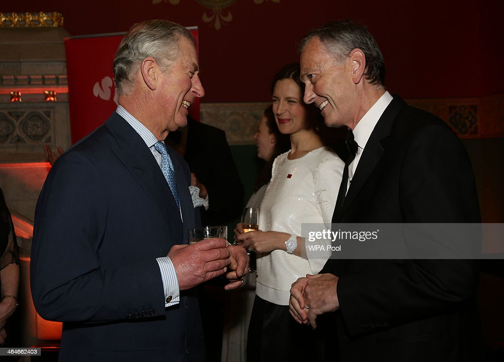 Prince Charles, Prince of Wales meets Richard Scudamore, Chief Executive of the Premier League during a leadership reception hosted by The Prince's Trust at The Royal Courts of Justice on January 23, 2014 in London, England.
