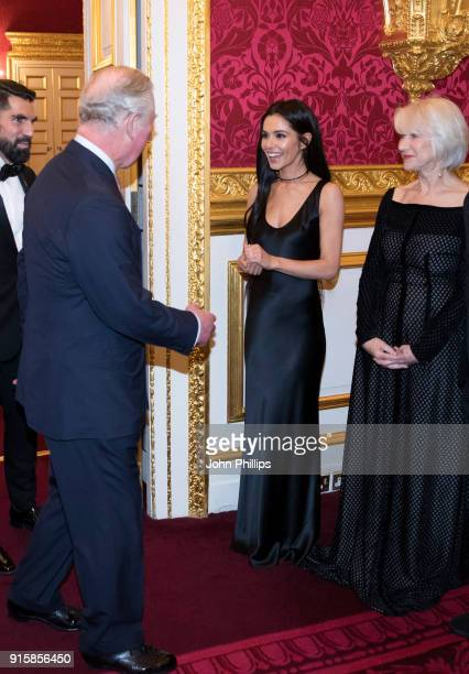 Prince Charles Prince of Wales meets singer Cheryl Tweedy and actress Dame Helen Mirren as he attends the Prince's Trust 'Invest in Futures'...