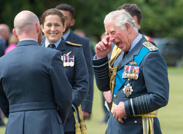 GBR: The Prince Of Wales Attends A Graduation Ceremony At RAF College Cranwell