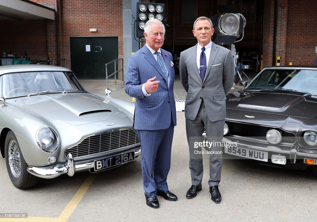 The Prince Of Wales Visits The James Bond Set : News Photo