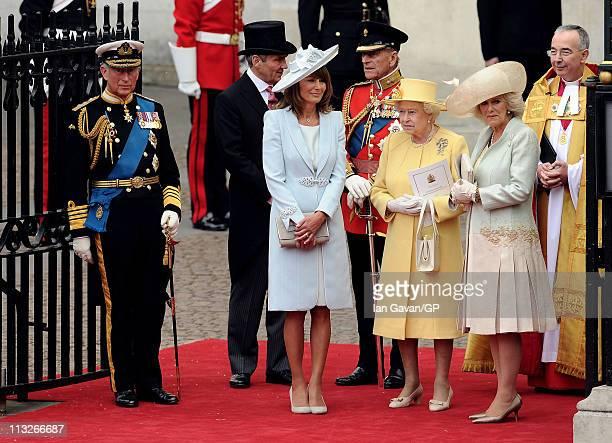 Prince Charles, Prince of Wales, Michael Middleton, Carole Middleton Prince Philip, Duke of Edinburgh, Queen Elizabeth II, Camilla, Duchess of...
