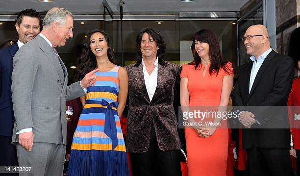Prince Charles, Prince of Wales, Myleene Klass, Lawrence Llwelyn Bowen, Suzi Perry and Gregg Wallace attend the Ideal Home Show 2012 at Earls Court...