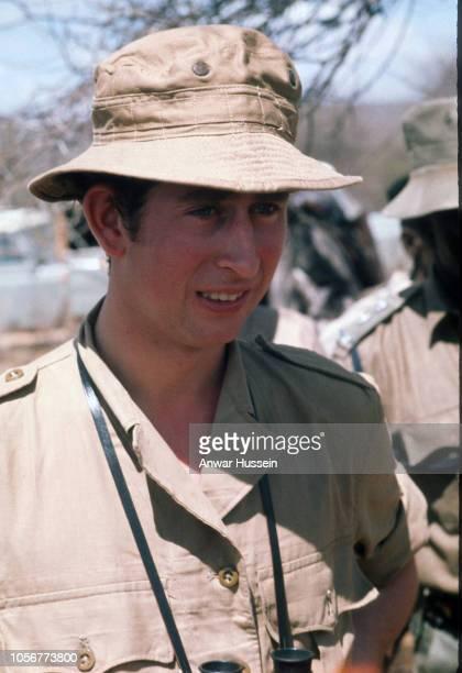 Prince Charles Prince of Wales on safari in the Masai Game Reserve on February 15 1971 in Nairobi Kenya
