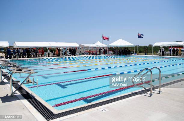 Prince Charles Prince of Wales opens Cayman Brac swimming pool and attend a reception during his visit to the Cayman Islands PRESS ASSOCIATION Photo...