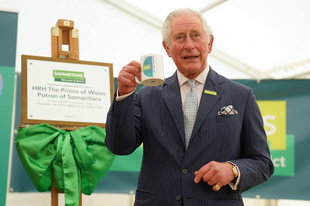 GBR: The Prince Of Wales Visits The Gloucester And District Branch Of Samaritans